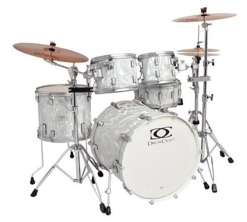 Drum Craft Series 7 DC807552 Progressive Birch Drum Set Shell Pack, Liquid Chrome by Drum Craft