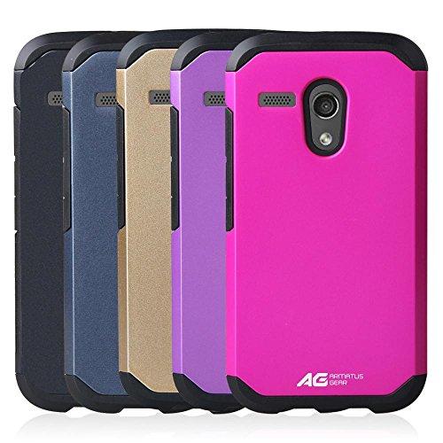 Motorola Moto G (1st Gen) Case - Armatus Gear TM Slim Hybrid Armor Case Dual Layer Shockproof Phone Cover For Motorola Moto G / Moto G LTE (1st Generation Only) - Purple