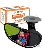 Rearview Baby Car Mirror Windshield Infant Front Facing, Shatterproof Child Safety Mirror, Adjustable Suction Cup (S) by COZY GREENS
