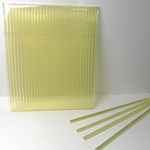 "50pcs 6"" X 5/32"" Gold/Yellow Acrylic Lollipop Sticks for Cake Pops Lollipop Candy"