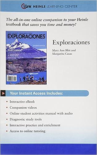 Amazon Exploraciones 9780495914259 Mary Ann Blitt Margarita Casas Books
