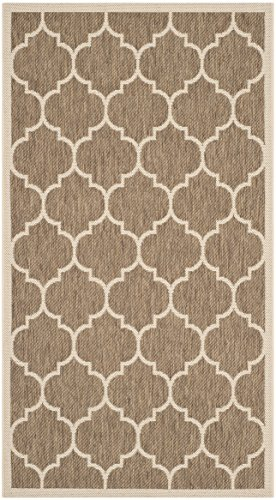 Safavieh Courtyard Collection CY6914-242 Brown and Bone Indoor/Outdoor Area Rug (2'7 x 5')