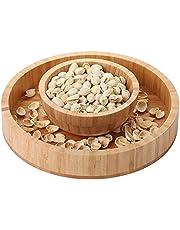 Makuzo Pistachio Bowl - Pistachio Pedestal - Nut Bowl - Sunflower Seed Bowl - Peanut Bowl - Pistachio Bowl with Shell Storage - Nut Bowl with Shell Holder