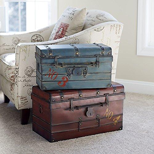 Household Essentials Steamer Classic Storage Trunk Red