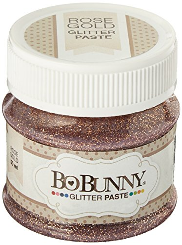 Bo Bunny 12740479 Double Dot Glitter Paste, Rose Gold ()