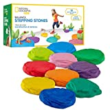 NATIONAL GEOGRAPHIC Balance Stepping Stones - Early Learning and Development for Kids with 10 Soft Stones