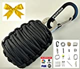Paracord Survival Grenade EDC Kit | Ultimate Emergency (24pc) Military Grade Wilderness Prepper Gear--Camping Hiking Hunting. Moms Feel Safe! Your Kids can get Food, Fire & Shelter When Lost