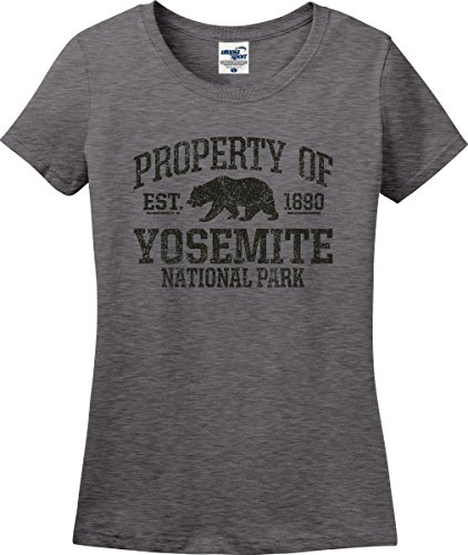 Property of Yosemite National Park Established 1890 Ladies T-Shirt (S-3X) (Ladies XX-Large, Graphite Heather)