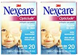 Nexcare Opticlude Orthoptic Eye Patches, Junior Size, 20-Count Boxes (Pack of 2)
