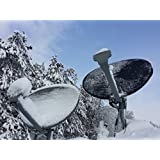 (Black) Satellite Dish Cover - Snow and Ice Protection for Directv and Dish Network