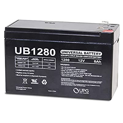 Universal Power Group 12V 8Ah UPS Battery Replaces 7.2Ah Panasonic LC-R12V7.2P1, LCR12V7.2P1
