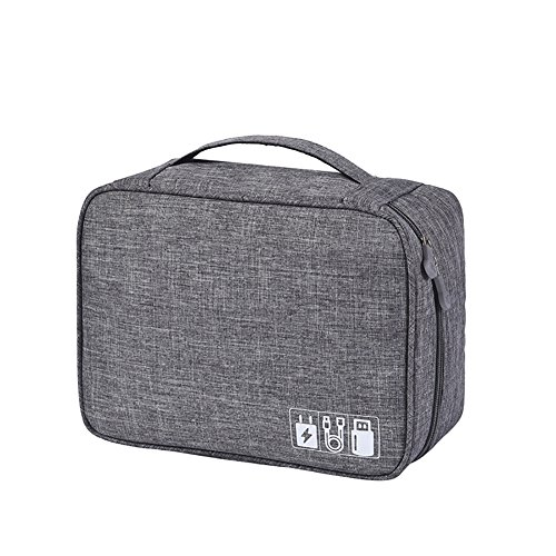72837da4ae93 Funnuf Travel Electronic Accessories Organizer Gadget Gear Storage Bag Case  for Cables USB Flash Drive Charger Grey