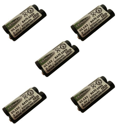 Panasonic KX-TG9331 Cordless Phone Battery Combo-Pack Includes: 5 x UL132 Batteries by Synergy Digital