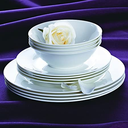 12 Piece Waterside Fine Bone China Dinner Set