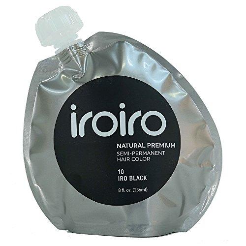 IROIRO Premium Natural Semi-Permanent Hair Color 10 Iro Black (8oz)