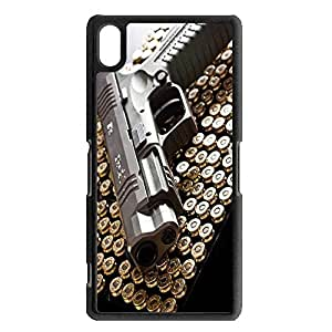 New Style Firearms Phone Case Cover For sony xperia Z2 Gun Luxury Pattern