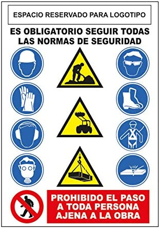 S21 Señalización CO-001 Cartel epis obra, Multicolor