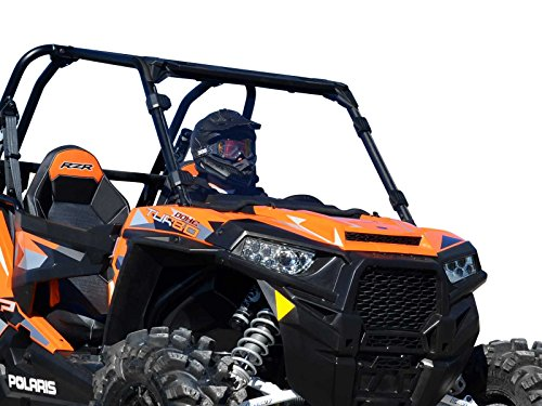 SuperATV Heavy Duty Clear Full Windshield for Polaris RZR 900/900 4/900 S/1000 XP/1000 S/Turbo/1000 4 (2014+) - Installs in 5 Minutes!