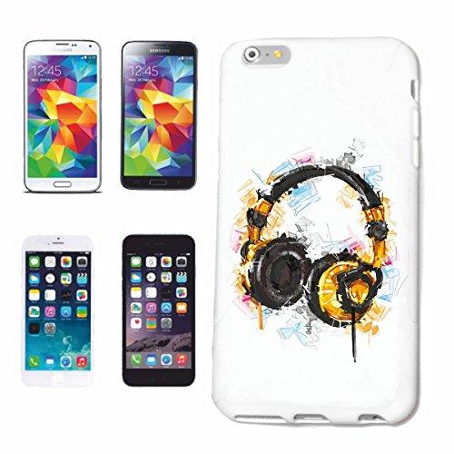 """cas de téléphone iPhone 7S """"CASQUE VINTAGE TECHNO JAZZ FUNKY SOUL TRANCE FESTIVAL HOUSE HIPHOP HIP HOP DJ"""" Hard Case Cover Téléphone Covers Smart Cover pour Apple iPhone en blanc"""