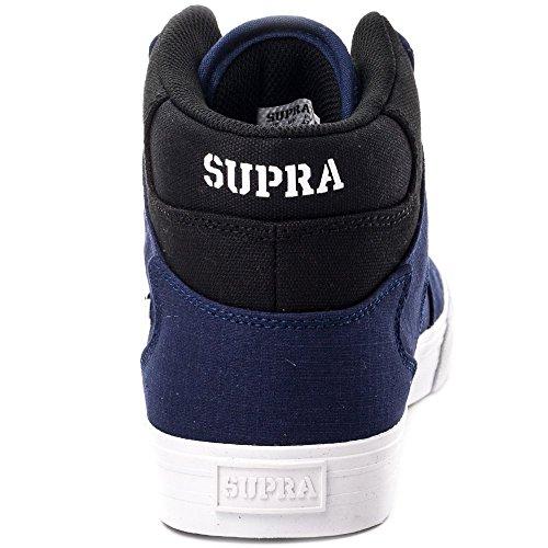 Supra VAIDER S28058 - Zapatillas de deporte de cuero para hombre Marino/Negro/Blanco
