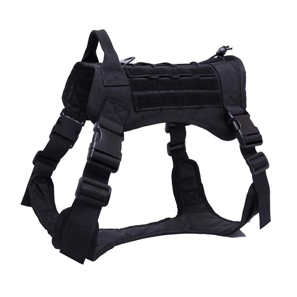 BLACK Xl BLACK Xl Dog Vest Harness, Outdoor Training Chest Strap golden Hair for Large and Medium Dogs Traction System Pet Labrador Leash Safety Buffer Vest (color   Black, Size   XL)