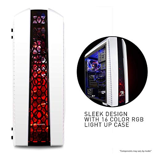 iBuyPower Gaming PC Elite Desktop Liquid Cooled AM8480i Intel I7-8700K 3.70GHz, NVIDIA GeForce GTX 1060 3GB, 8GB DDR4 RAM, 1TB 7200RPM HDD, WiFi, RGB, Win 10, VR Ready