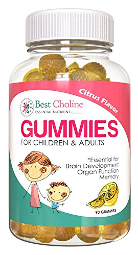 BestCholine Bitartrate 400 mg | 30 High Absorption Gummies | Promotes Healthy Cognitive Function, Mental Focus & Memory | Prenatal Infant Brain Development Supplement | Cardiovascular Health