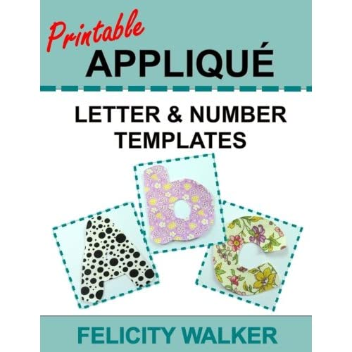 Applique patterns amazon printable applique letter number templates alphabet patterns with uppercase and lowercase letters numbers spiritdancerdesigns Images