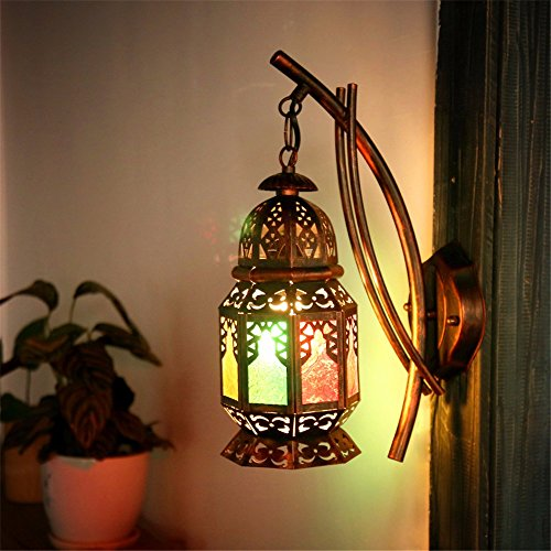 JJZHG Wall Light Indoor Wall Lamp Bar Wall lamp Creative Restaurant Cafe inn Colored Aisle Wall Includes: Wall Lights, Wall lamp with Reading Light, Wall lamp with Plug, Wall lamp Shade