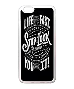 VUTTOO Iphone 6 Case, Life Moves Pretty Fast Quote Case Cover for Apple iPhone 6 4.7 Inch TPU Transparent
