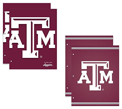 Texas A&M University Aggies 2-Pocket School Folders, 4 Pack, 9.5
