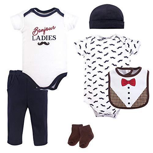Hudson Baby Clothing Set, 6 Piece, Bonjour, 0-3 Months