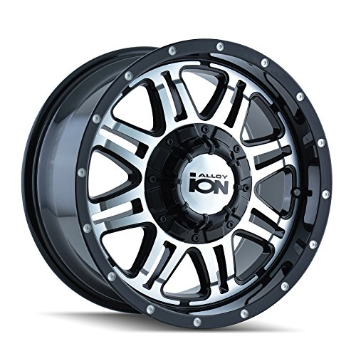 (Ion Alloy Style 186 Black Wheel with Machined Face (18x9