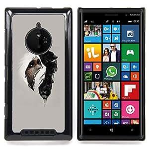 SKCASE Center / Funda Carcasa protectora - Mujer & Wolf;;;;;;;; - Nokia Lumia 830