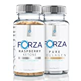 FORZA FITNESS Raspberry Ketone (90 Caps) & BEAUTY Pure Collagen (90 Capsules)