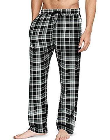 Hanes Men`s Flannel Pants with Comfort Flex Waistband, 2XL, Grey/Navy - Flannel Pajama Pants Sleepwear