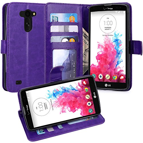 LG G Vista Case, LK [Kickstand Feature] LG G Vista Wallet Case, Luxury PU Leather Case Flip Cover Built-in Card Slots Stand For LG G Vista, Purple (Lg G Vista Wallet Phone Case compare prices)