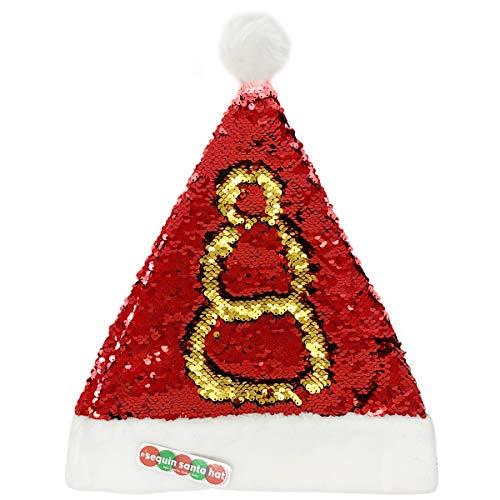 Rhode Island Novelty Holiday Christmas Flip Sequin Santa