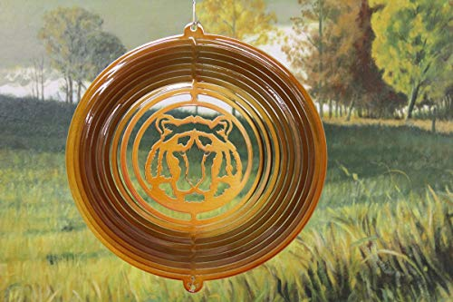- Stainless Steel Tiger Head - 12 Inch Wind Spinner, Copper