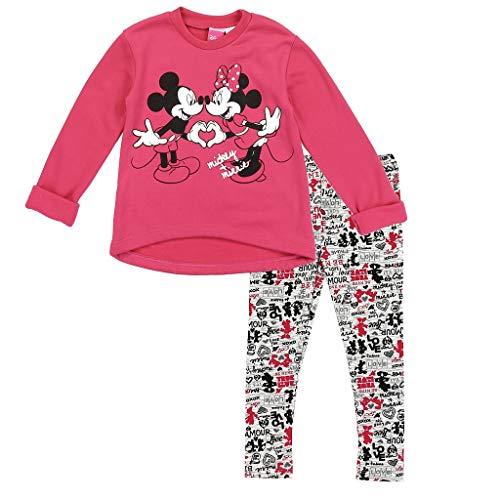 (Disney Little Girls' Toddler Minnie Fleece Top and Leggings Set, Hot Pink (4T))