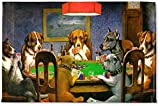 RNK Shops Dogs Playing Poker 1903 C.M.Coolidge Woven Mat