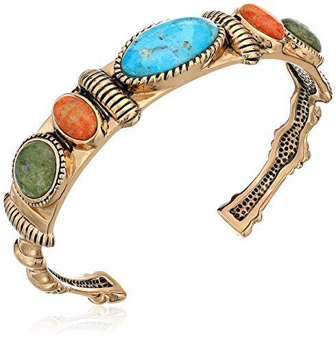 Barse Spice Turquoise Multi-Shape Cuff Bracelet, 2.5