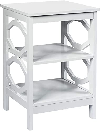 Giantex Nightstand 3-Tier End Table Multifunctional W/Stable Structure Easy Assembly Storage Stand
