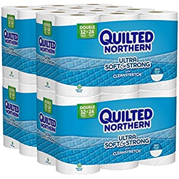 Quilted Northern Ultra Soft & Strong Toilet Paper, 48 Double Rolls (Four 12-Roll Packages), Equivalent to 96 Regular Rolls-Packaging May Vary