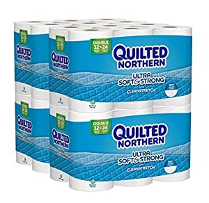 Quilted Northern Ultra Soft and Strong Toilet Paper, Bath Tissue, 48 Double Rolls