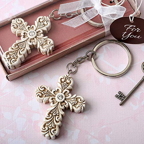 32 Baroque Design Vintage Cross Themed Key Chains by Fashioncraft
