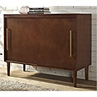 Pemberly Row Media Console in Mahogany