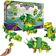 BOTZEES GO! Dinosaur Toys, Dinosaur Robots for Kids, Building & Electric Remote Control Toys, STEM Learnin