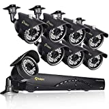 Cheap Anlapus 8CH 720P AHD DVR Realtime Network H.264 Security Home Surveillance System with 8 Bullet 720P Surveillance CCTV Waterproof Camera Kits (No HDD include)