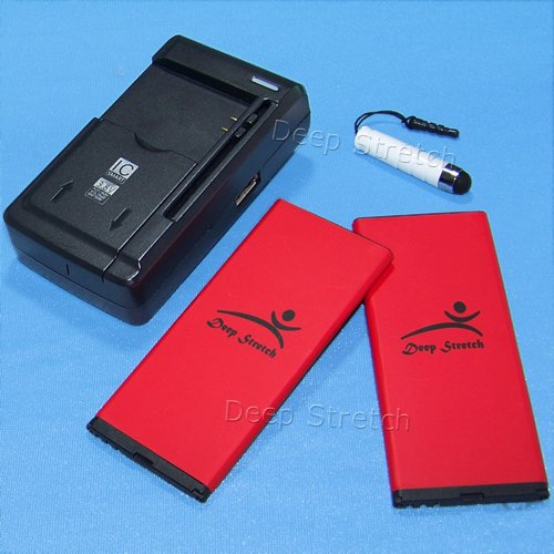 - High Power Microsoft Lumia 950 Battery kit [2Battery + 1Charger] 3500mAh Spare Extended Slim Li-ion 3.85V Battery Portable USB Charger for AT&T Microsoft Lumia 950